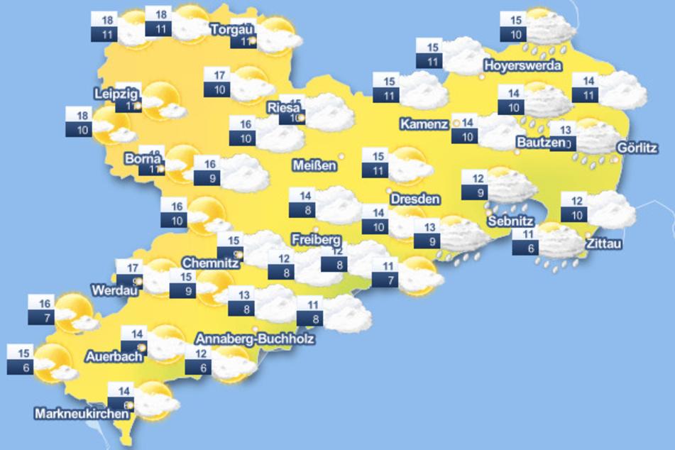 Sachsen darf sich auf eine Woche mit wenig Regen und milden Temperaturen freuen.