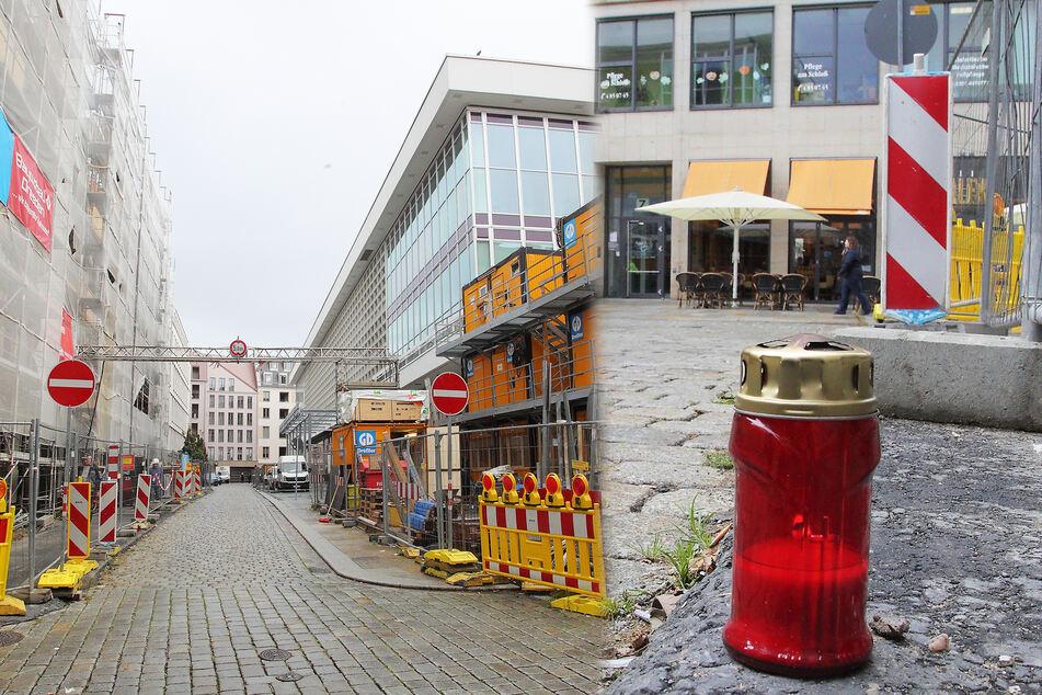 Dresden: Tourist in Dresden getötet: Kerze erinnert an Messer-Mord, Killer weiter auf der Flucht!