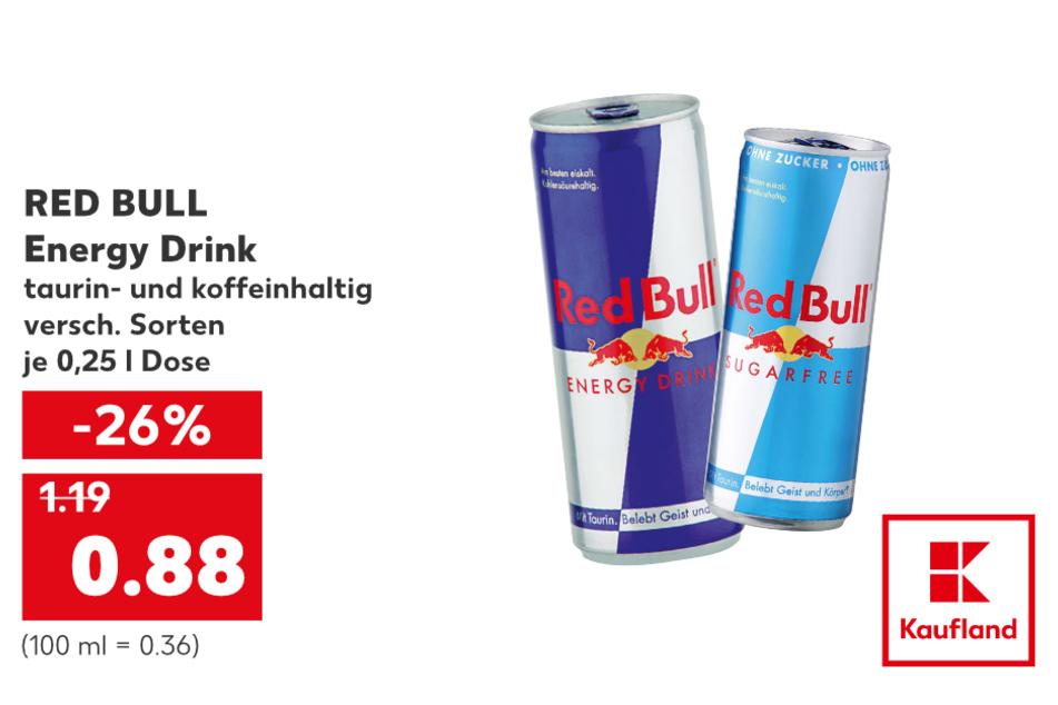 RED BULL Energy Drink für nur 0,88 Euro.