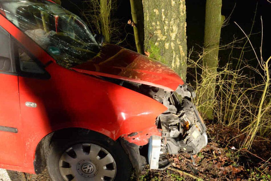 Der Fahrer kam mit schweren Verletzungen ins Krankenhaus.