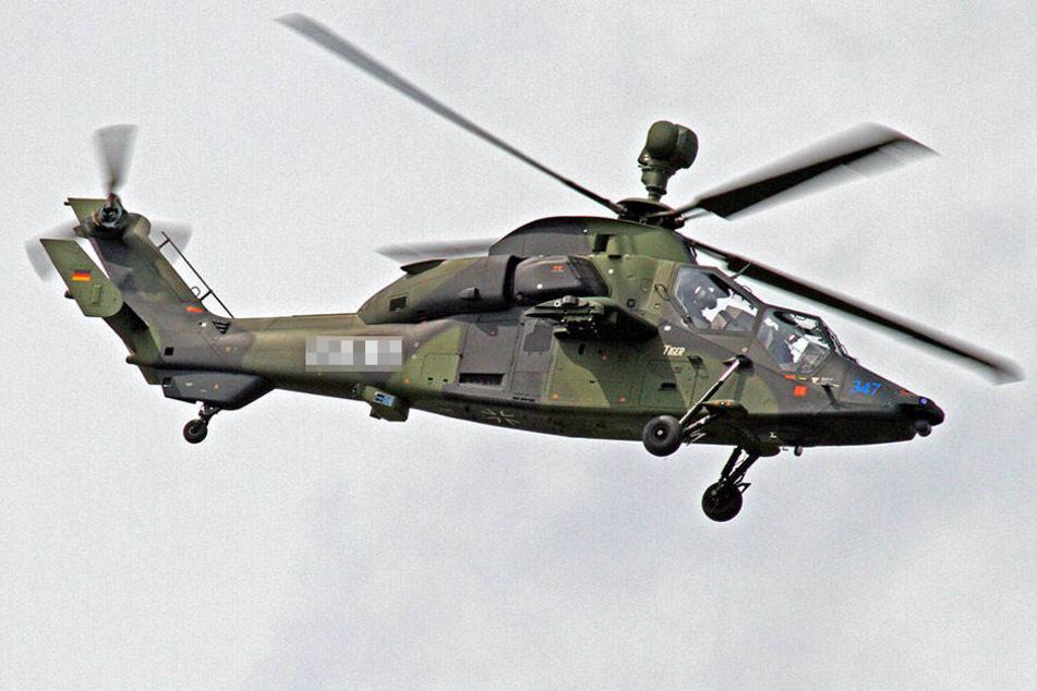 Hubschrauber der Typen NH90 und Tiger (Foto) werden ab Freitag nach Mali geflogen.