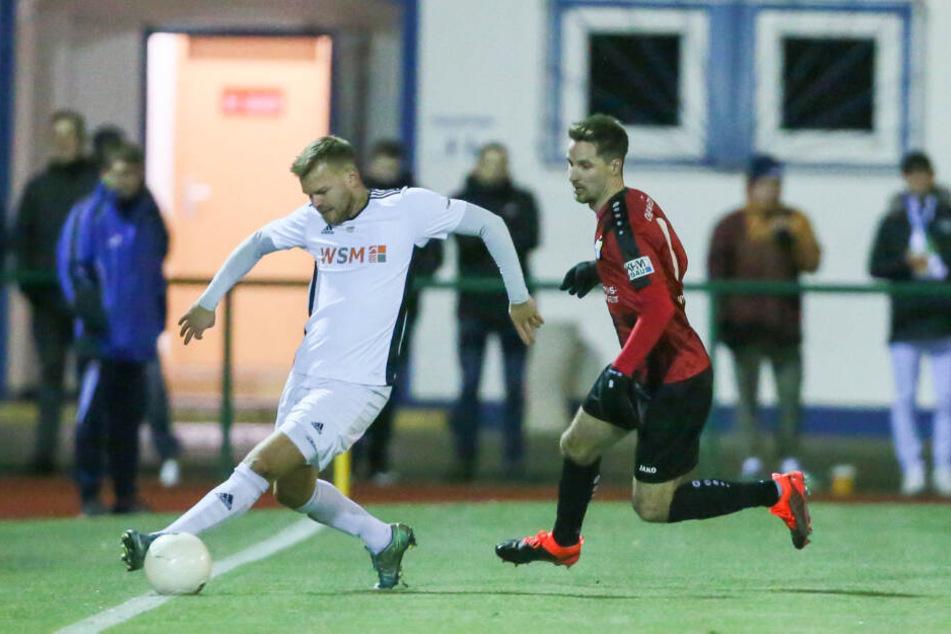 Beim 4:0 im Landespokal gegen Markranstädt durfte Sandro Sirigu (r., mit Robby Kögler) eine Halbzeit lang ran. Sein Drittliga-Debüt für den CFC ist leider geplatzt - Knieverletzung!
