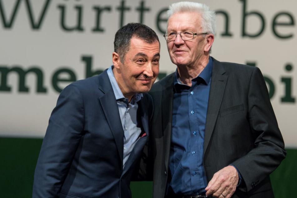 Cem Özdemir (links) und Winfried Kretschmann.