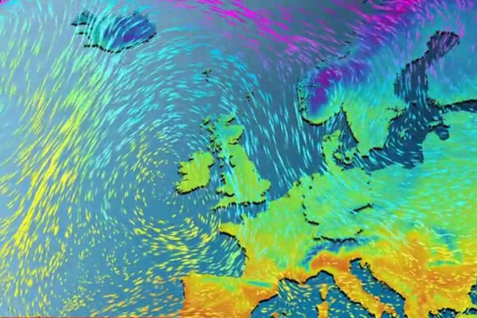 Laut wetter.de breitet sich am Montag Polarluft aus.