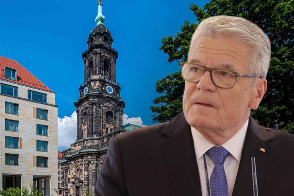 Leider besucht Bundespräsident Joachim Gauck (76) am 3. Oktober nicht die Dresdner Kreuzkirche.