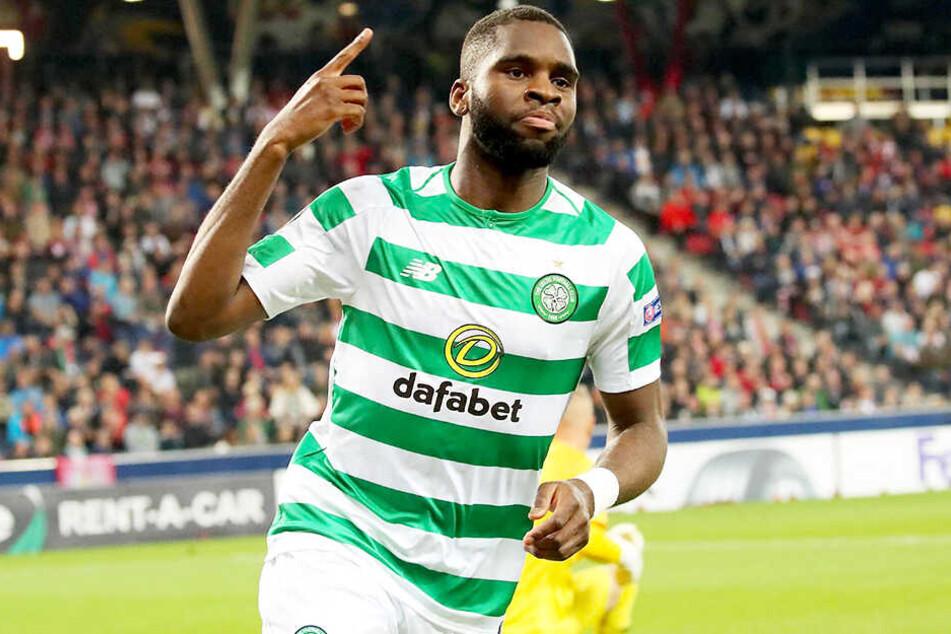 Bei Celtic Glasgow in Schottland ein echter Torjäger: Sturmtank Odsonne Edouard.