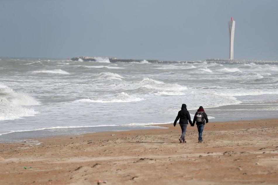 Der Nordseestrand von Ostende.