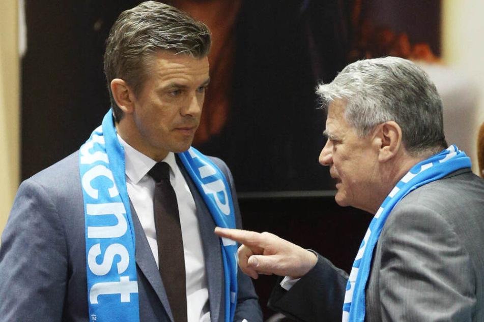 2013 waren ZDF-Moderator Markus Lanz (links) und der ehemalige Bundespräsident Joachim Gauck gemeinsam auf dem Evangelischen Kirchentag.
