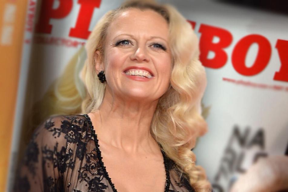Sehen wir Barbara Schöneberger bald auf dem Cover des Playboys? (Bildmontage)