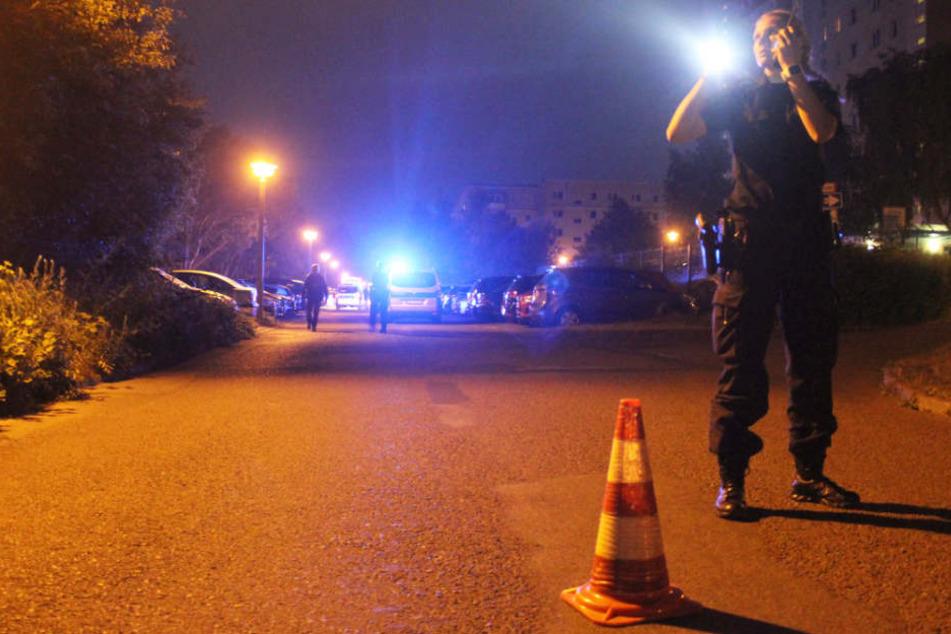 Der Bereich um den Tatort wurde großräumig abgesperrt.
