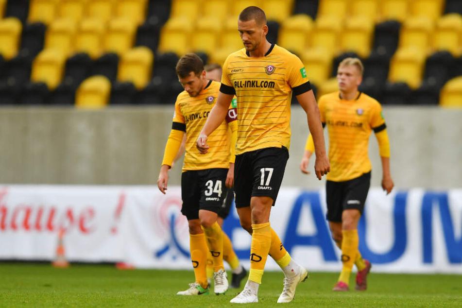Das Rumpfteam der Dynamos unterliegt gegen den Drittligisten mit 0:2.