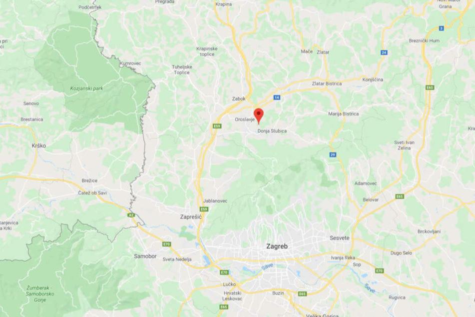 Andrasevec liegt etwa 40 Kilometer nördlich der kroatischen Hauptstadt Zagreb.