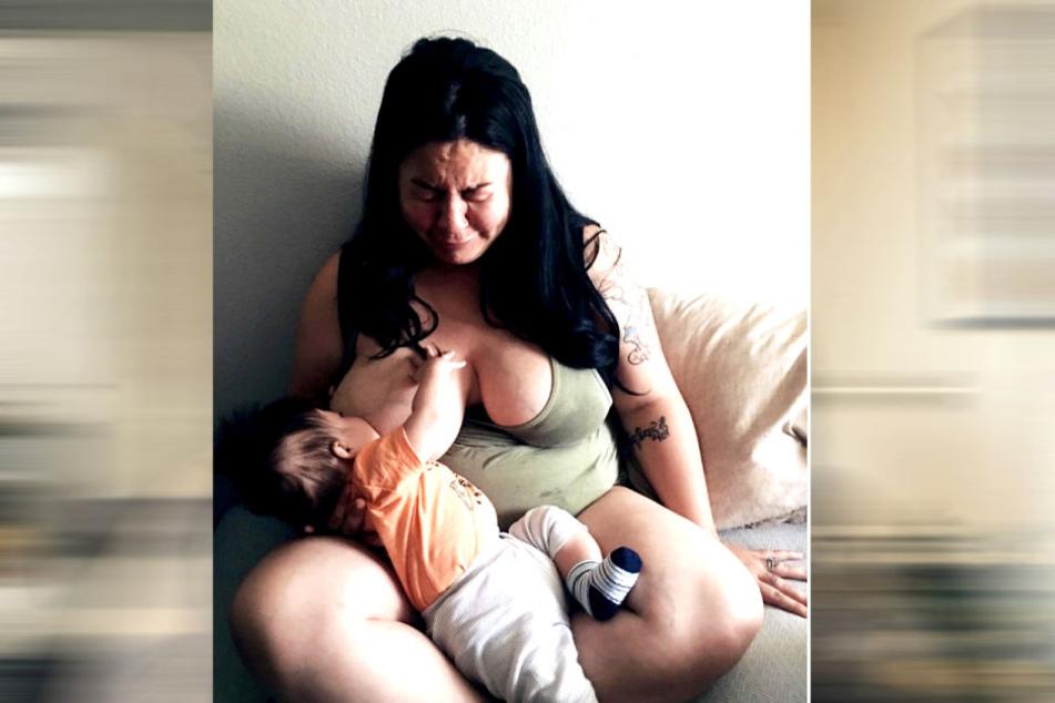 Dieses Foto nahm ihr Ehemann in der schlimmsten Phase der Erkrankung auf.