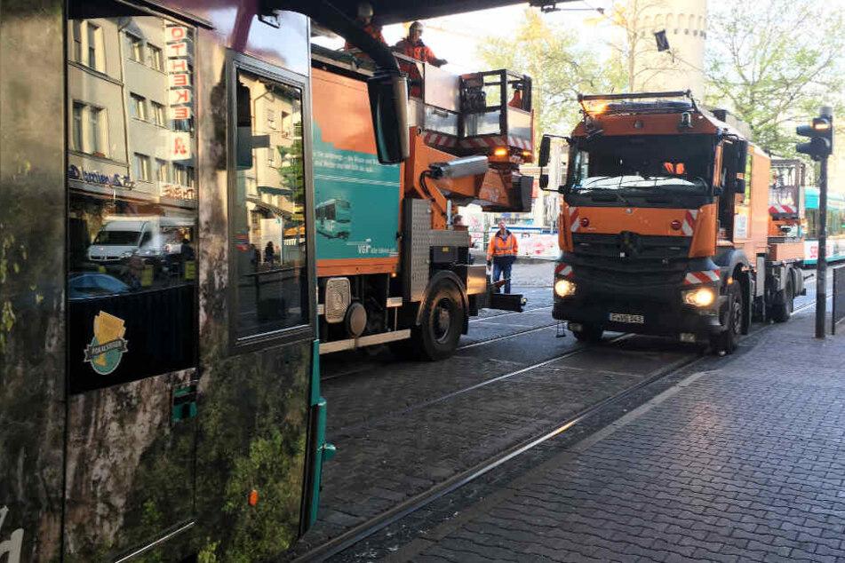 Große Straßenbahn-Störung in Frankfurt