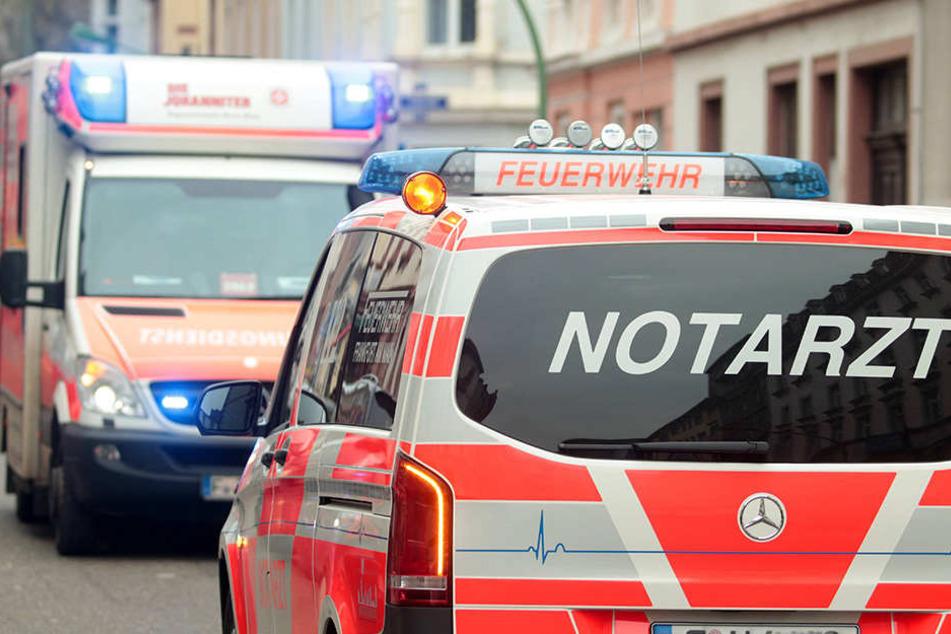 In Leipzig wurden mehrere Menschen, darunter auch ein Kind, bei einem Feuer verletzt. (Symbolbild)
