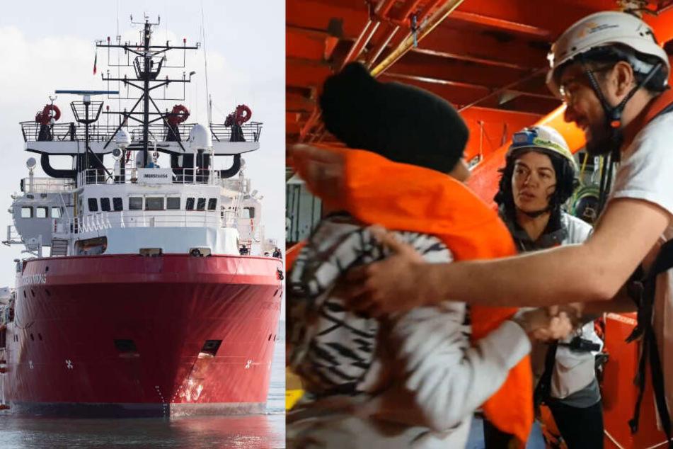 Völlig überfülltes Schlauchboot: 92 Menschen aus Mittelmeer geborgen