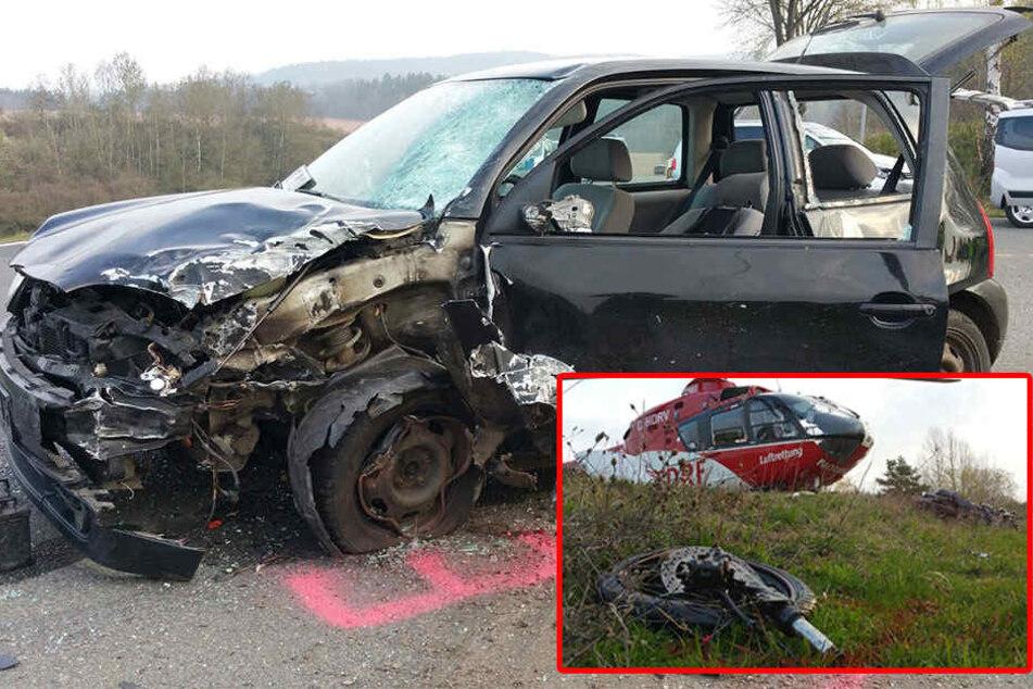 Motorrad kracht beim Überholen in Gegenverkehr: 24-Jähriger tot