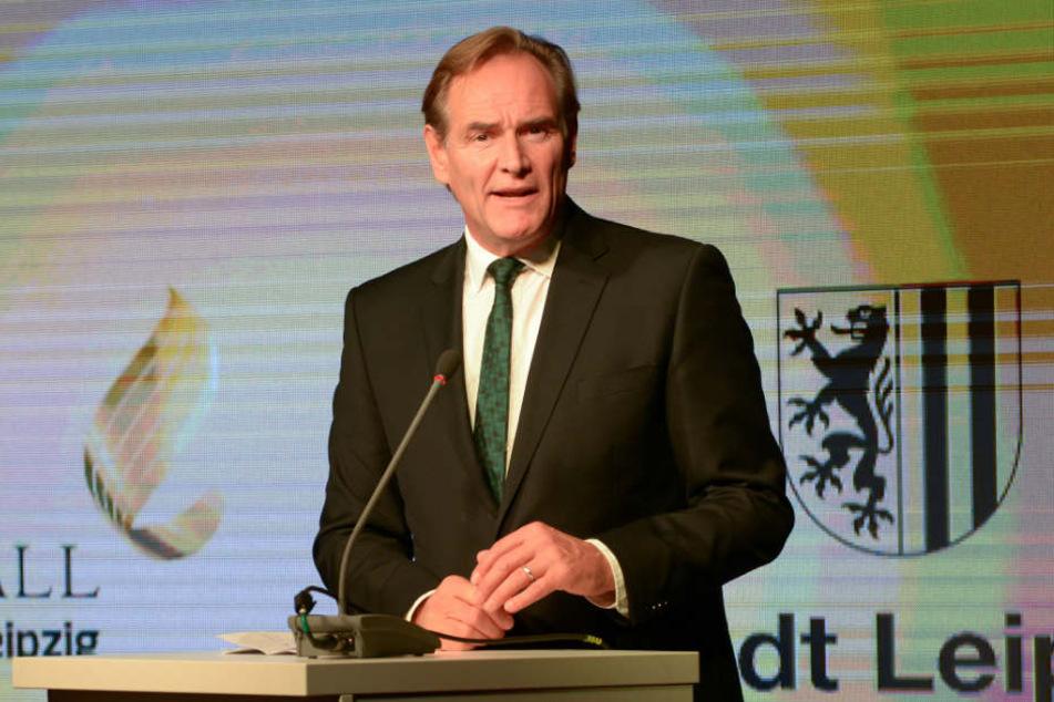 Leipzigs Oberbürgermeister Burkhard Jung (60, SPD) sprach am Mittwoch in einer Videobotschaft zu den Leipzigern.