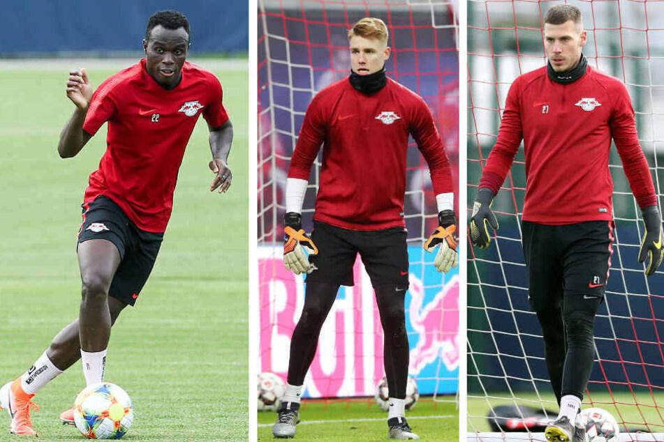 Haben RB verlassen (v.l.n.r.): Bruma, Julian Krahl und Marius Müller.
