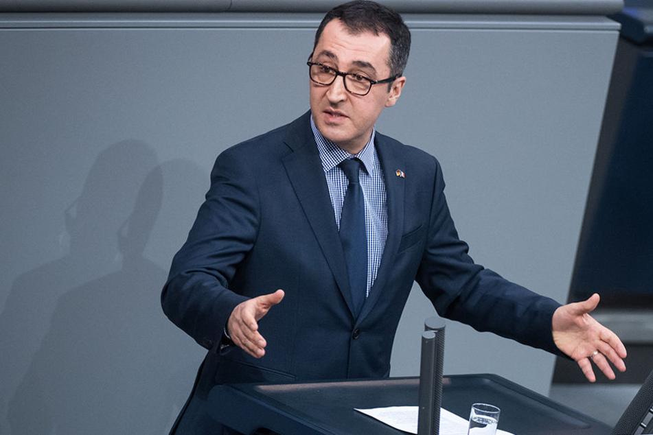 Cem Özdemir (52, Grüne) bei seiner Wutrede im Bundestag.