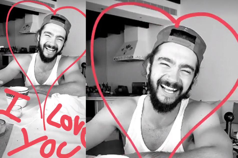 Liebeserklärung auf Instagram: Heidi liebkost ihren Tom gern öffentlich.