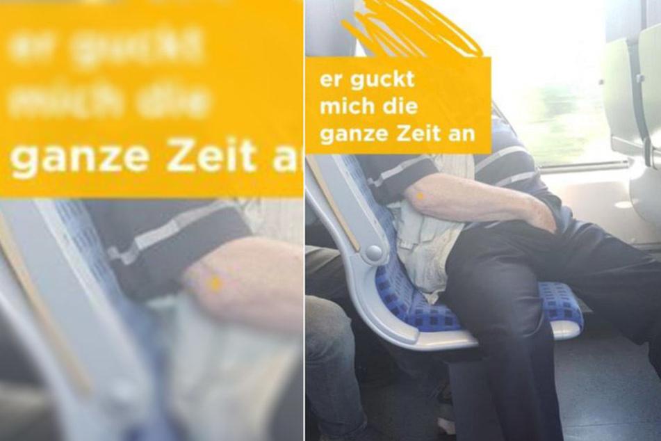 Zeugen gesucht! Mann starrt 19-Jährige im Zug an und onaniert
