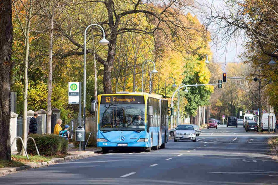 Die neuen Ringbusse nutzen in der Weststraße schon vorhandene Haltestellen.