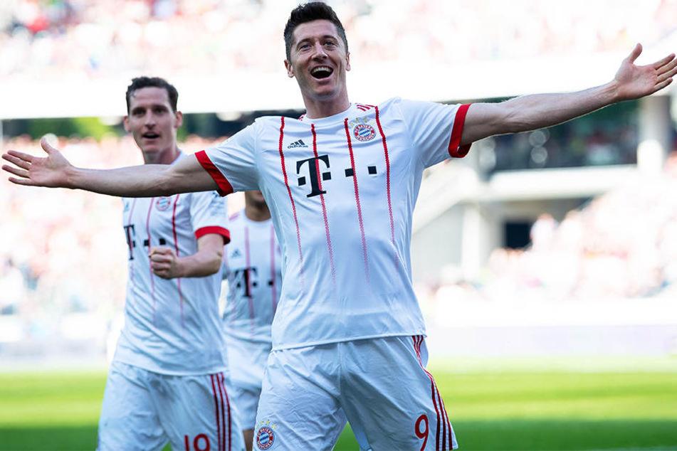 Gehört dieses Bild bald der Vergangenheit an? Robert Lewandowski jubelt im Trikot des FC Bayern München.