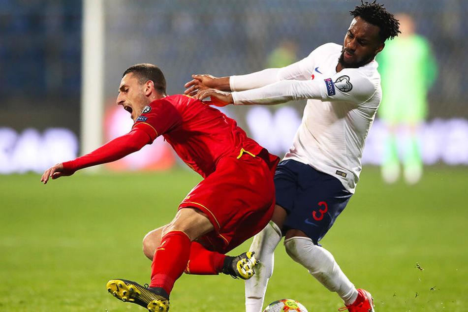 Danny Rose im EM-Qualifikationsspiel gegen Montenegro. Während der Partie wurde er rassistisch beleidigt.