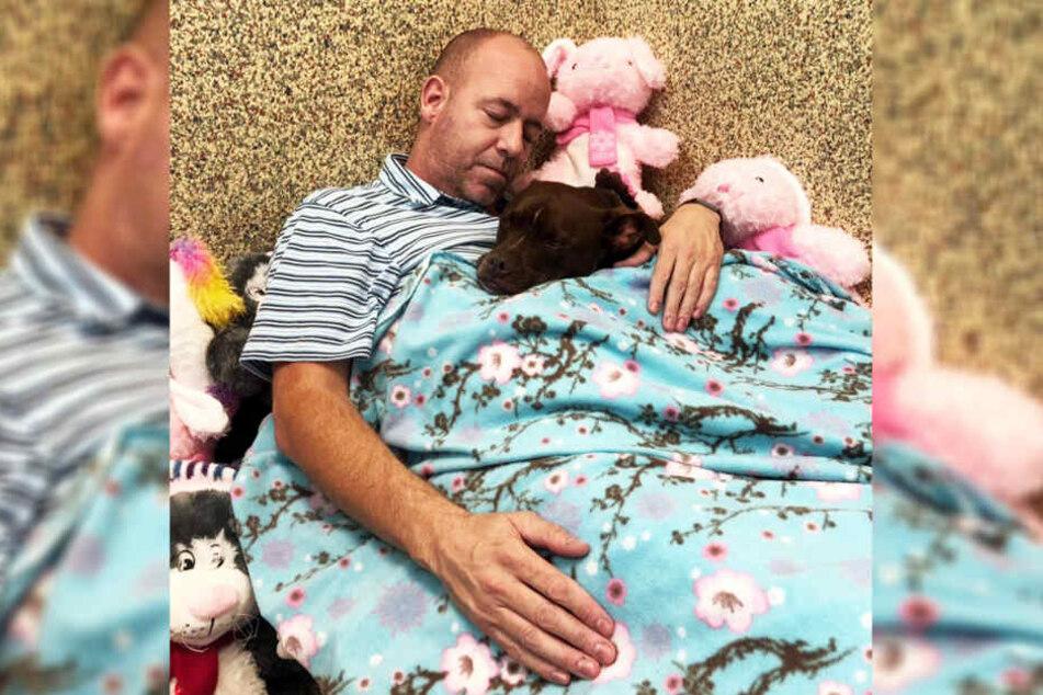 Scott Poore schlief über eine Woche im Tierheim.