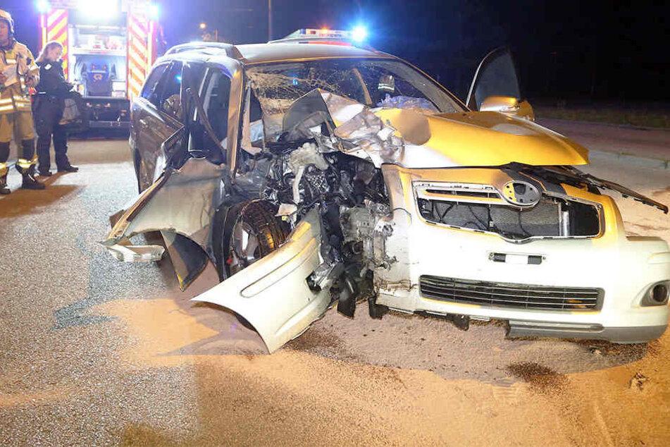 Am Toyota entstand ein Totalschaden.