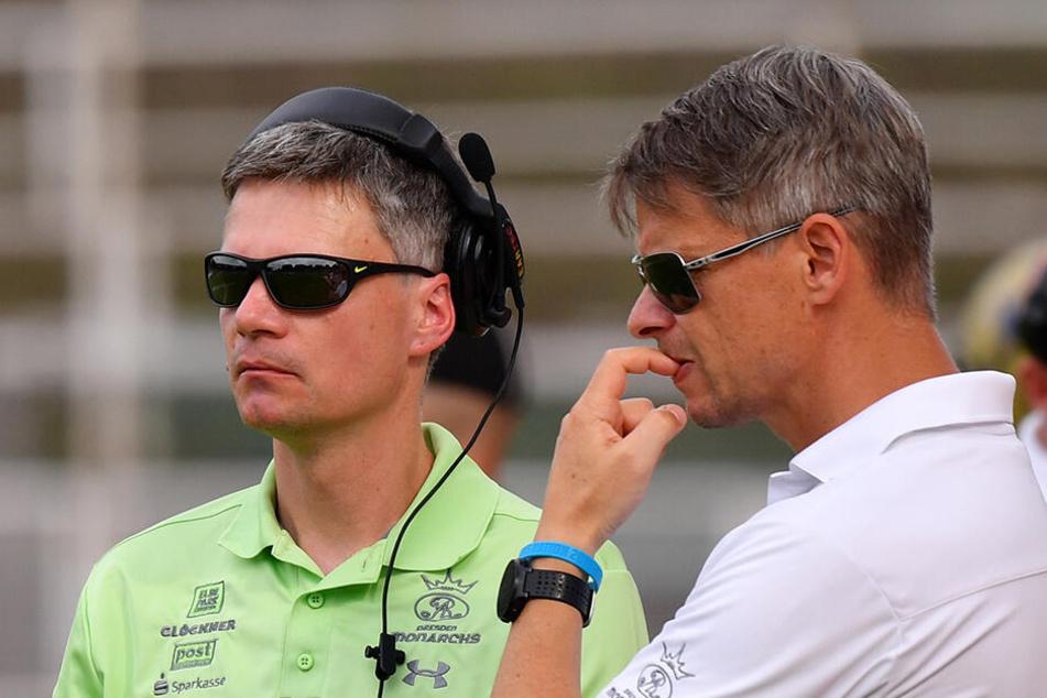 Thomas Stantke (r.) mit Headcoach Ulrich Däuber.