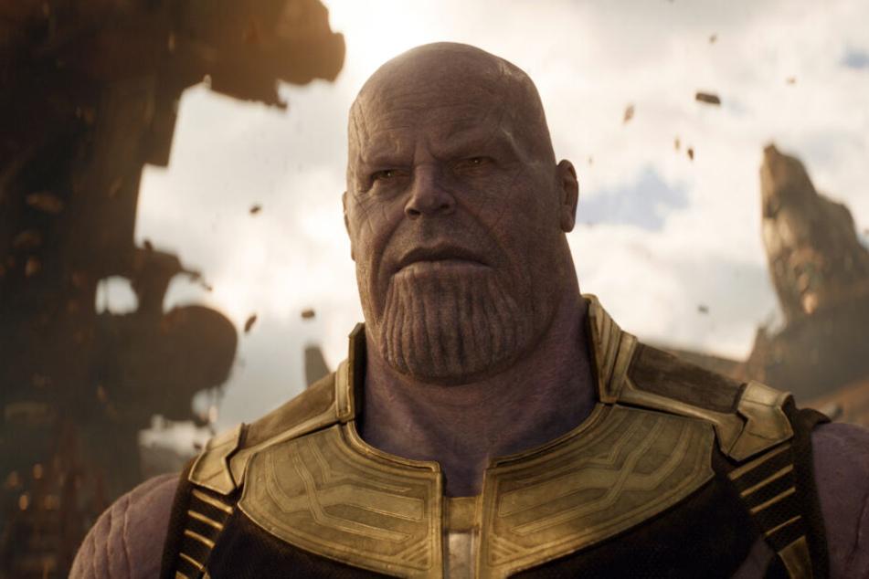 """Josh Brolin als Thanos in einer Szene des Films """"Avengers 3: Infinity War"""""""