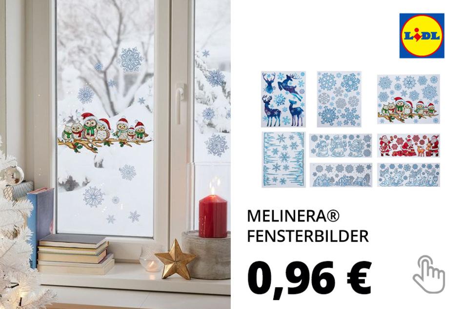 MELINERA® Weihnachtsfensterbilder