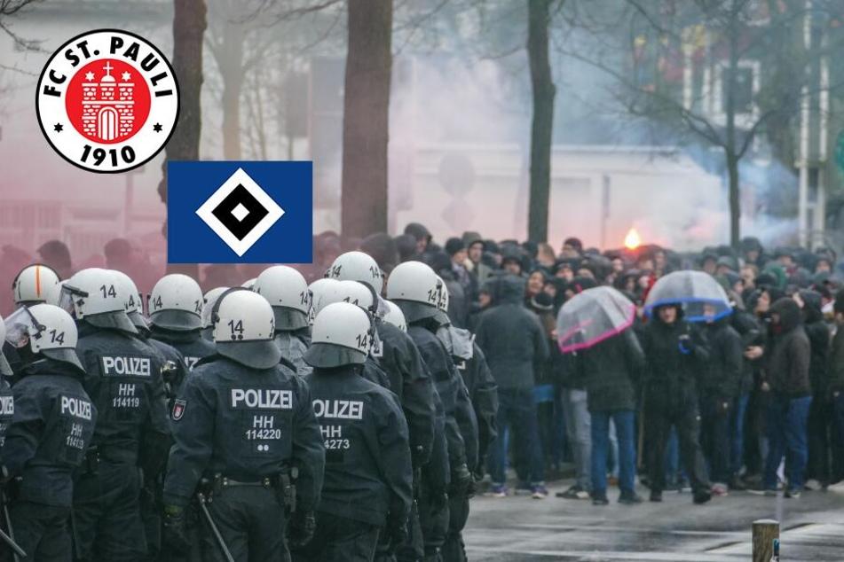 HSV gegen St. Pauli: Polizei nach Derby-Massenschlägerei im Großeinsatz