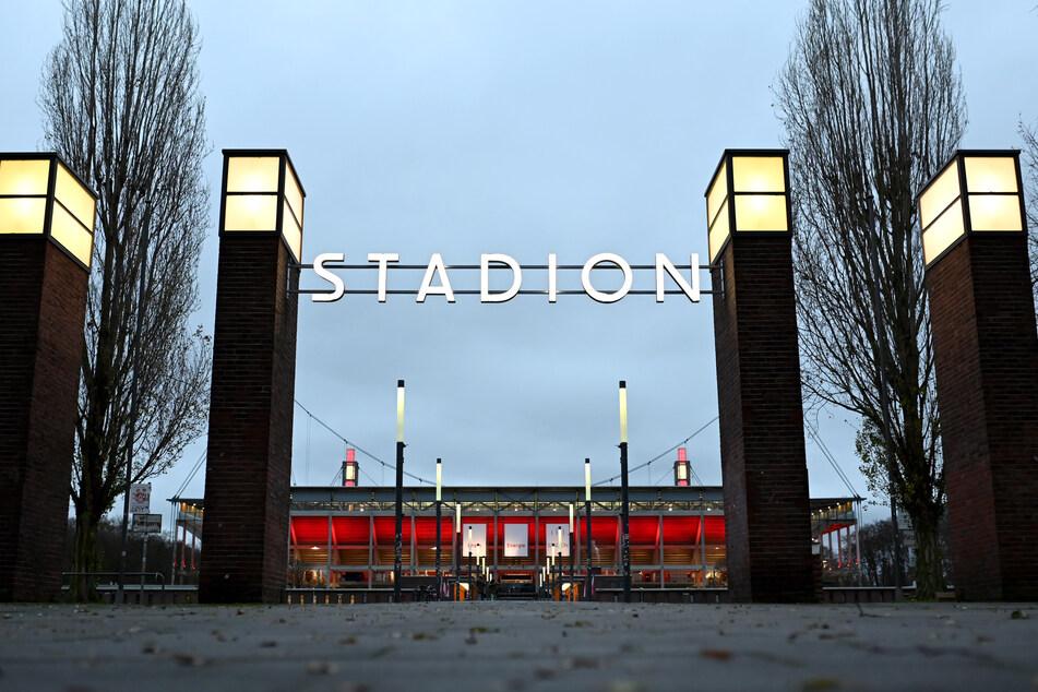 Blick auf das Stadion des 1. FC Köln.