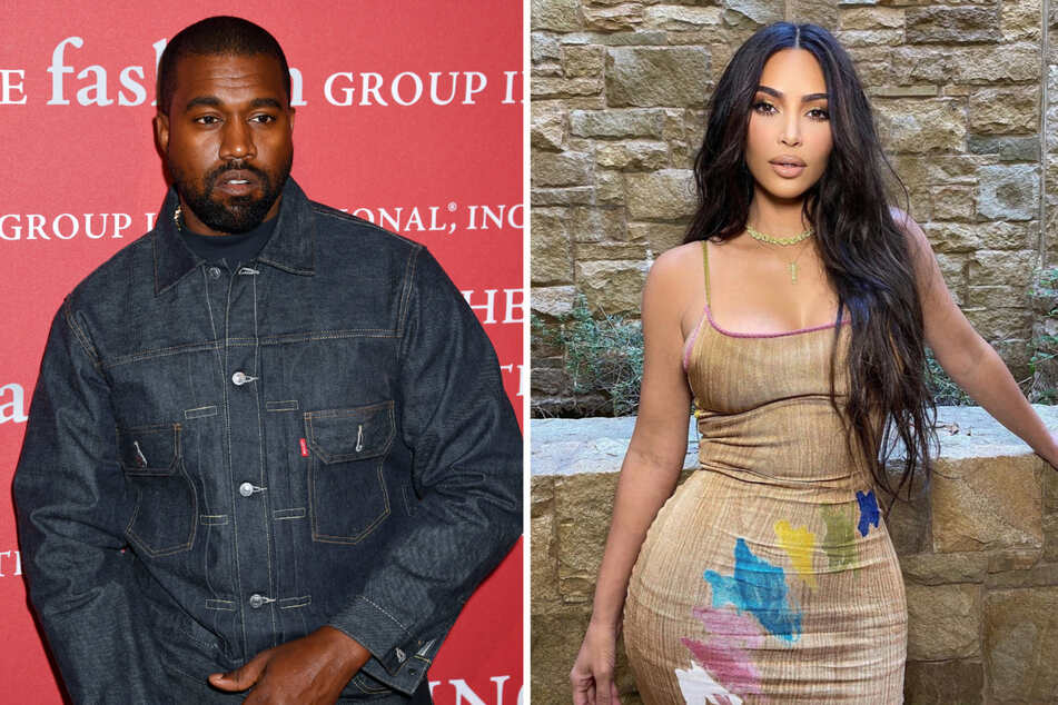 Kanye (43) and Kim's (40) marriage has reportedly been on the rocks for a while now (collage).