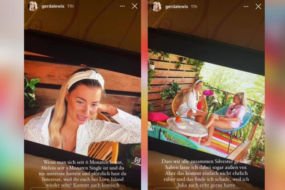 Gerda Lewis (27) rechnete in ihrer Instagram-Story mit ihrer Freundin Julia Schwab (23) ab.
