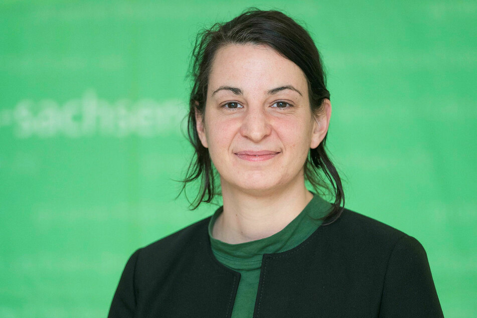 Landtagsabgeordnete Christin Melcher (38, Grüne).