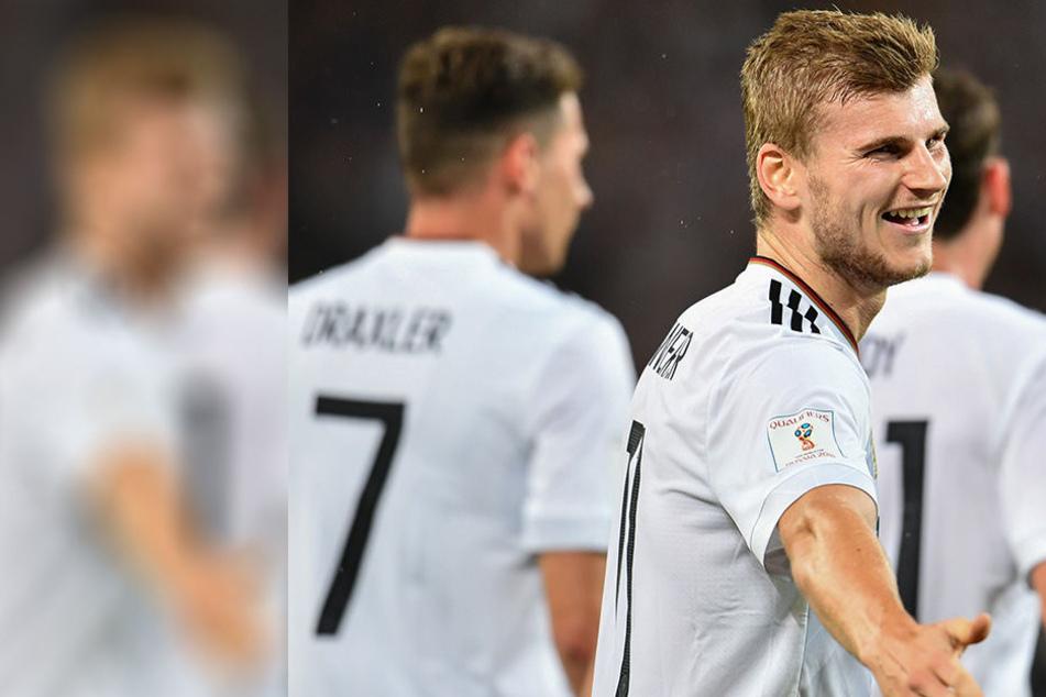Unterstützung statt Pfiffe: RB-Stürmer Timo Werner wird bei Deutschland-Sieg gefeiert