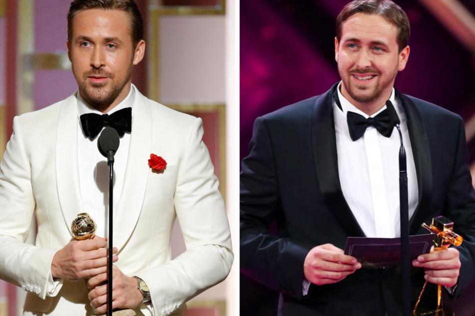 Ziemlich ähnlich: Der echte Ryan Gosling (links) und der Münchner Koch Ludwig Lehner.