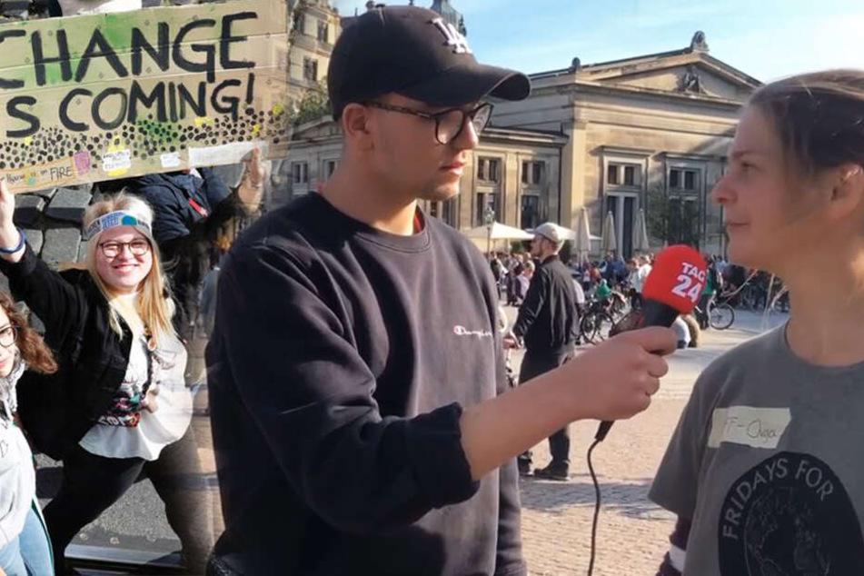 14.000 bei Fridays for Future in Dresden: TAG24-Reporter im Gespräch vor Ort