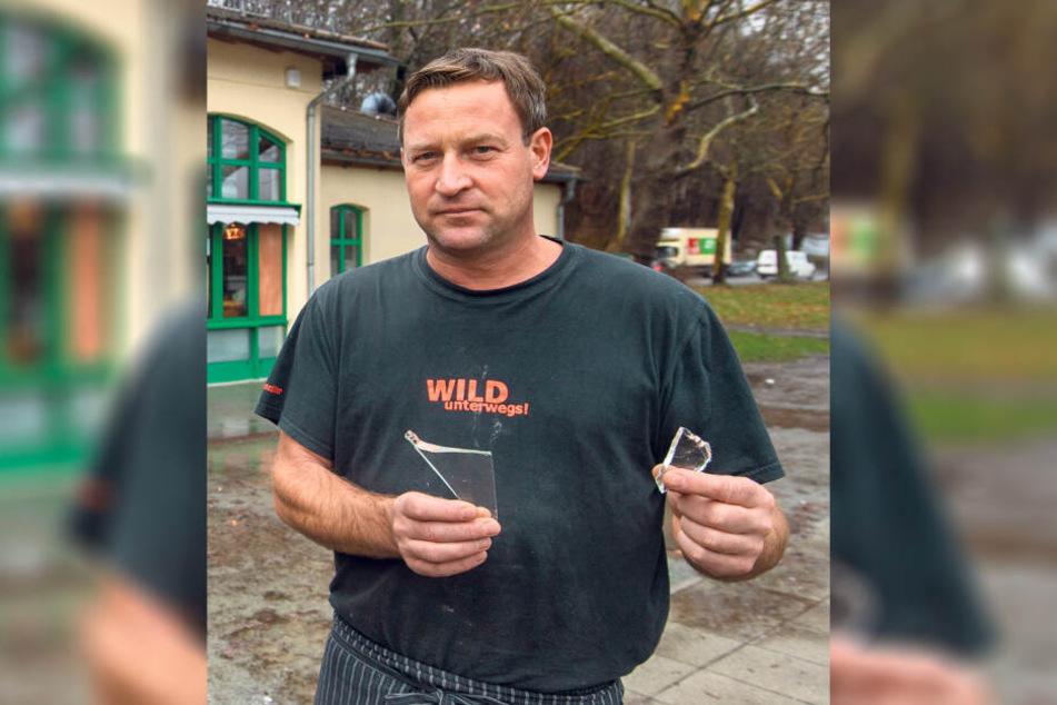 Leider machen Falko Hirsch (45) immer wieder Vandalen zu schaffen.