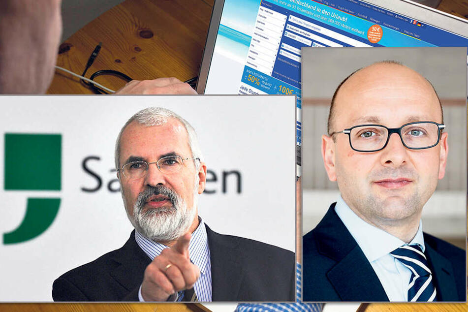 Insolvenzverwalter Lucas Flöther (42, li.) und Datenschützer Andreas Schurig (58).
