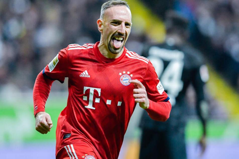 Franck Ribéry konnte am Montag wieder am Teamtraining des FC Bayern teilnehmen.