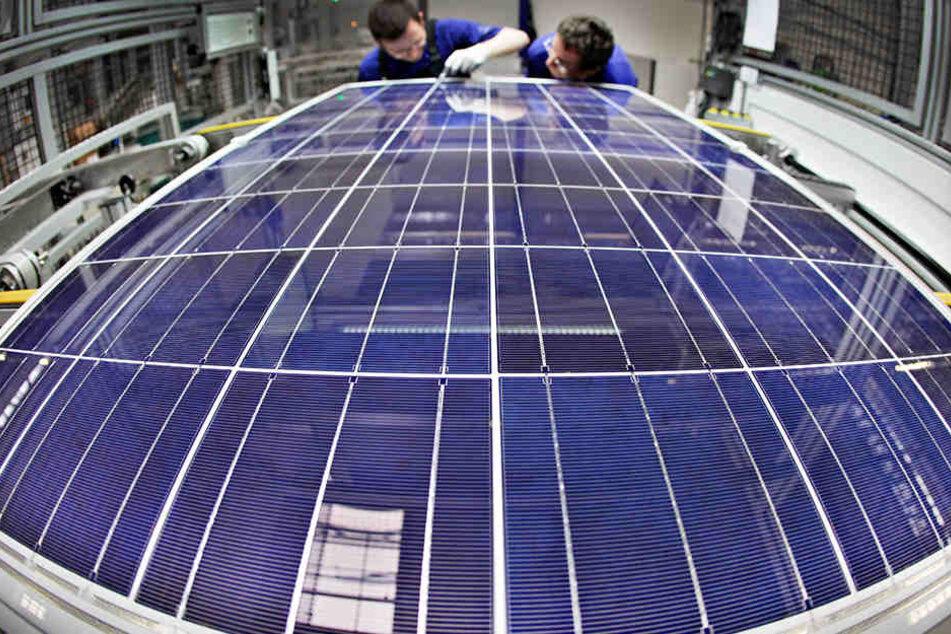 Die Solarmodule werden in Arnstadt gefertigt.