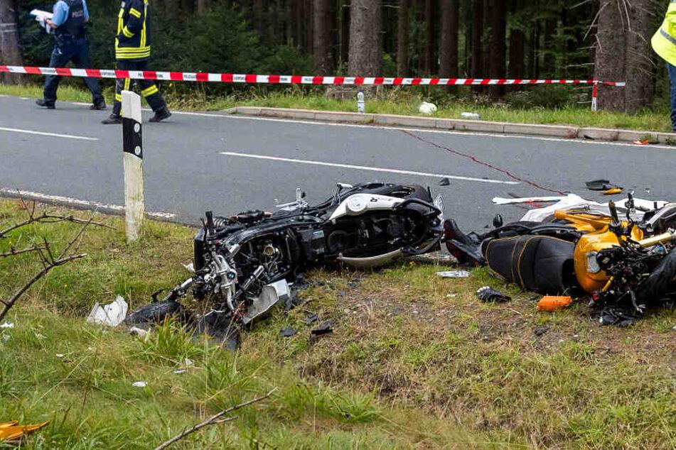 Auf dem Großen Feldberg im Taunus kommt es immer wieder zu schweren Motorradunfällen. Das Foto zeigt einen Crash aus dem Jahr 2015.