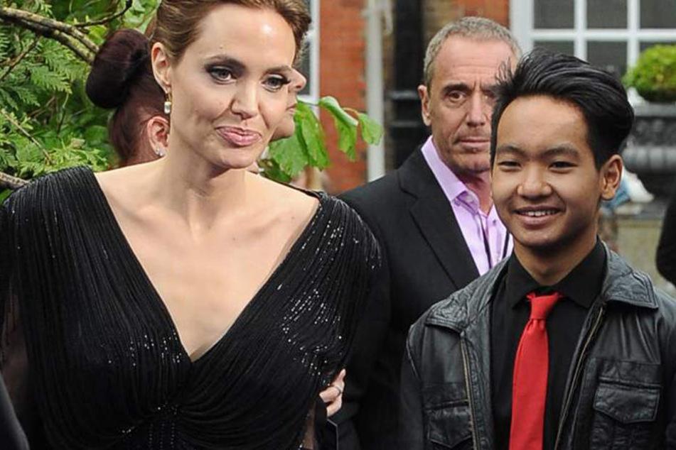 Angelina Jolie (41) und Sohn Maddox (15). Er soll Opfer der Gewalt seines Vaters geworden sein.