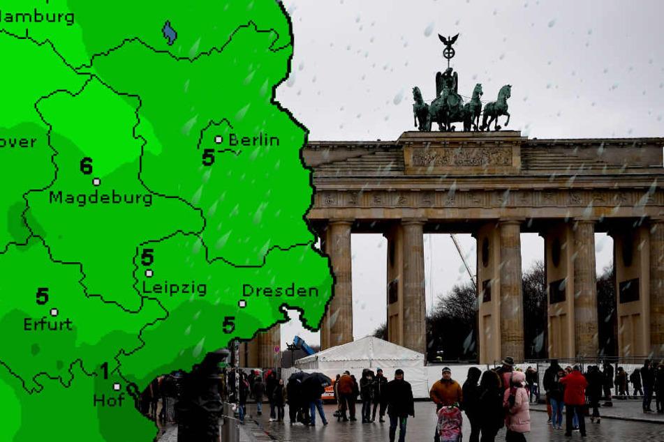 Auch die nächsten Tage in Berlin und Umgebung bleiben regnerisch. (Bildmontage)