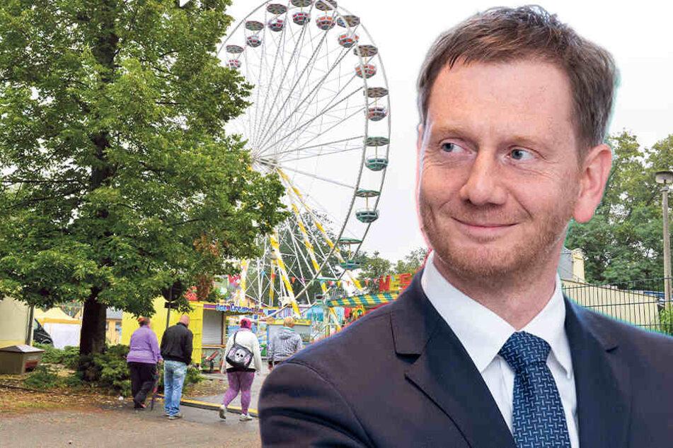 Stadtparkfest in Limbach: Heute holt MP Kretschmer den Fassbieranstich nach